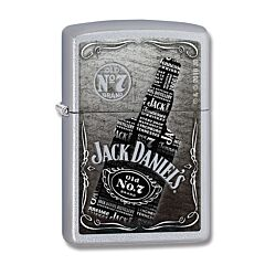 Zippo Jack Daniels Bottle Chrome Lighter