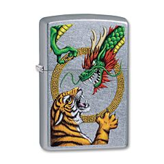 Zippo Chinese Dragon Street Chrome Lighter