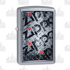Zippo Street Chrome Diamond Plate Lighter