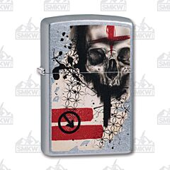 Zippo Trash Polka Tattoo Skull Lighter