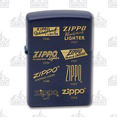 Zippo Navy Matte Logo Lighter