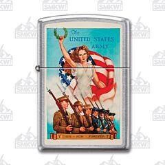 Zippo Street Chrome US Army Vintage Poster Lighter
