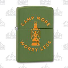 Zippo Green Matte Camp More Lighter