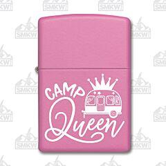 Zippo Pink Matte Camp Queen Lighter