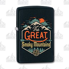 Zippo Black Matte Smoky Mountains Lighter