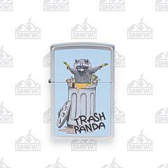Zippo Satin Chrome Trash Panda Lighter