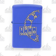 Zippo Millennium Blue Matte Lighter