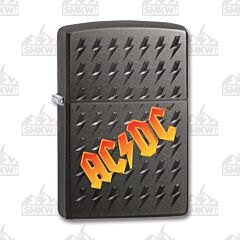 Zippo Gray Iced AC/DC Lightning Lighter