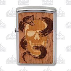 Zippo Woodchuck Skull Snake Lighter