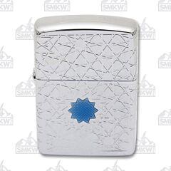 Zippo Star Pattern Armor Chrome Lighter