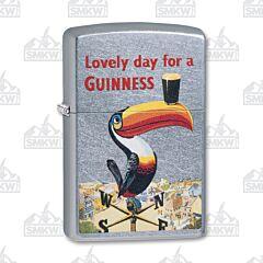 Zippo Guinness Tucan Street Chrome Lighter
