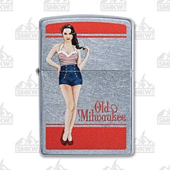 Zippo Old Milwaukee Pin-Up Lighter