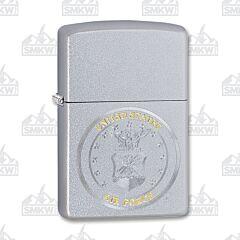 Zippo Air Force Seal Satin Chrome Lighter