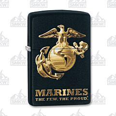 Zippo US Marine Corps Black Matte Lighter