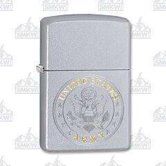 Zippo US Army Emblem Satin Chrome Lighter