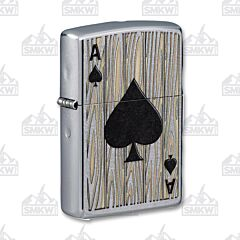 Zippo Ace of Spades Street Chrome Lighter
