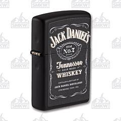 Zippo Jack Daniel's Black Matte Lighter