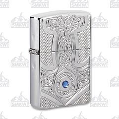Zippo High Polished Chrome Medieval Design Lighter