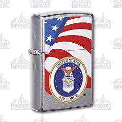 Zippo USAF Street Chrome Lighter