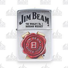 Zippo Jim Beam Seal Street Chrome Lighter