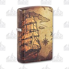 Zippo Treasure Map Lighter