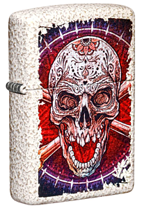 Zippo Skull Mercury Glass Lighter