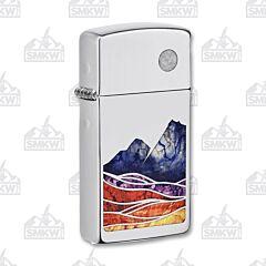 Zippo Fusion Mountains Slim Lighter