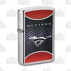 Zippo Ford Brushed Chrome Mustang Lighter