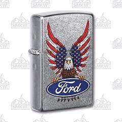 Zippo Ford Street Chrome Eagle Lighter