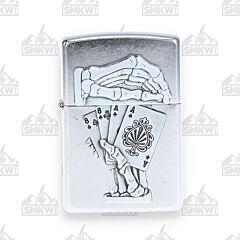 Zippo Dead Man's Hand Street Chrome Lighter