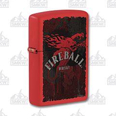 Zippo Red Matte Fireball Lighter