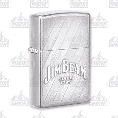 Zippo Street Chrome Jim Beam Slats Lighter