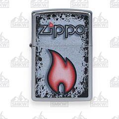Zippo Flame Street Chrome Lighter