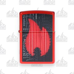 Zippo Metallic Red Flame Lighter