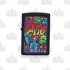 Zippo Street Art Black Matte Lighter