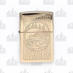 Zippo Fisherman High Polished Brass Lighter