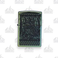 Zippo High Polished Teal Bird Lighter