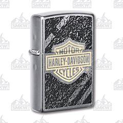 Zippo Harley-Davidson Street Chrome Tread Logo Lighter