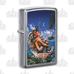 Zippo Street Chrome Rick Rietveld Mermaid Angel