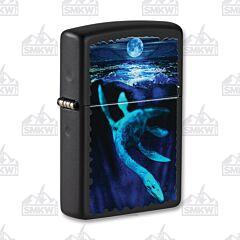 Zippo Black Matte Loch Ness Lighter