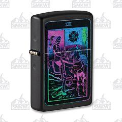 Zippo Black Matte Tarot Card Lighter
