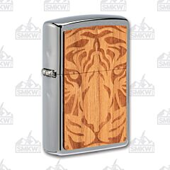 Zippo Buy One Plant One Brushed Chrome Tiger Lighter
