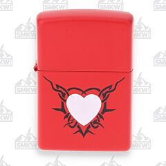 Zippo Valentine's Day Red Matte Lighter