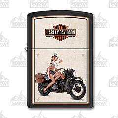 Zippo Harley Davidson Pinup Lighter