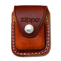 Zippo Leather Lighter Sheath Brown Clip