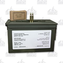 Federal Ammunition 5.56x45mm NATO 62 Grain M855 SS109 Penetrator Full Metal Jacket Ammo Can of 820 Rounds