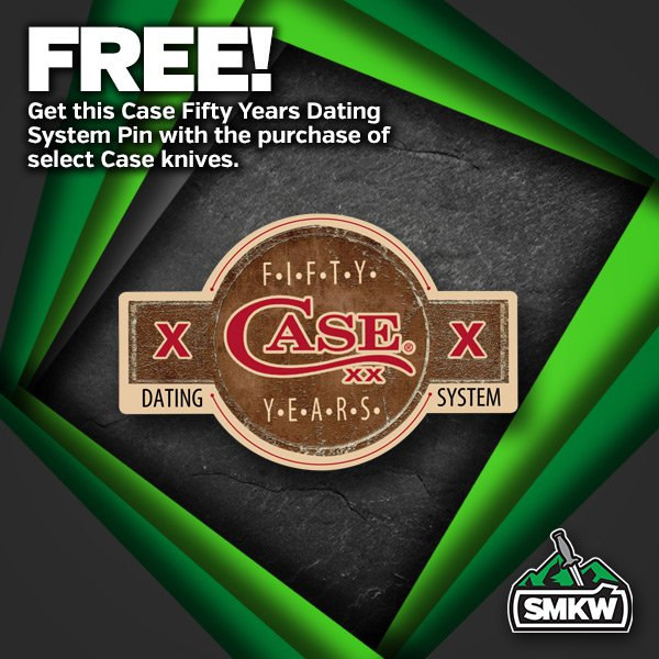 FREE! Exclusive Anniversary Pin (PDCA50PIN) with purchase of any Case 50th Anniversary Dot Dating System products. Offer expires 12/31/20.