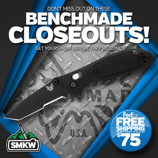 Don't miss these Benchmade Closeouts! While supplies last.