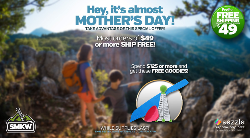 Mother's Day Sale 2021 - Orders $49 or more get free shipping, Orders $125 or more get free shipping and a free Kitchen Goodie Bag! See disclaimer on right for restrictions.