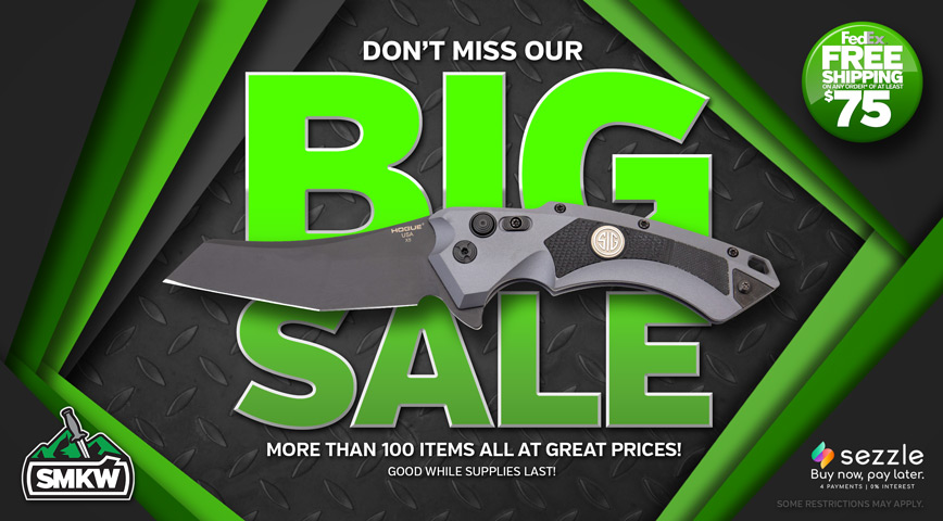 Don't miss our Big Sale! Over 100 products at great prices. See disclaimer on right for restrictions.